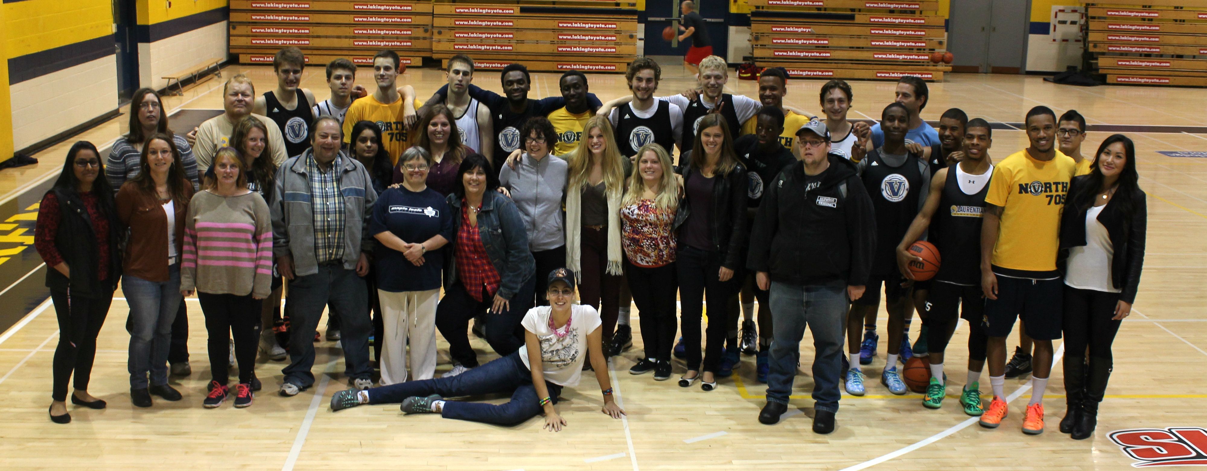 The LU Basketball team and the buddies. Photo by Oliver Wilmot.