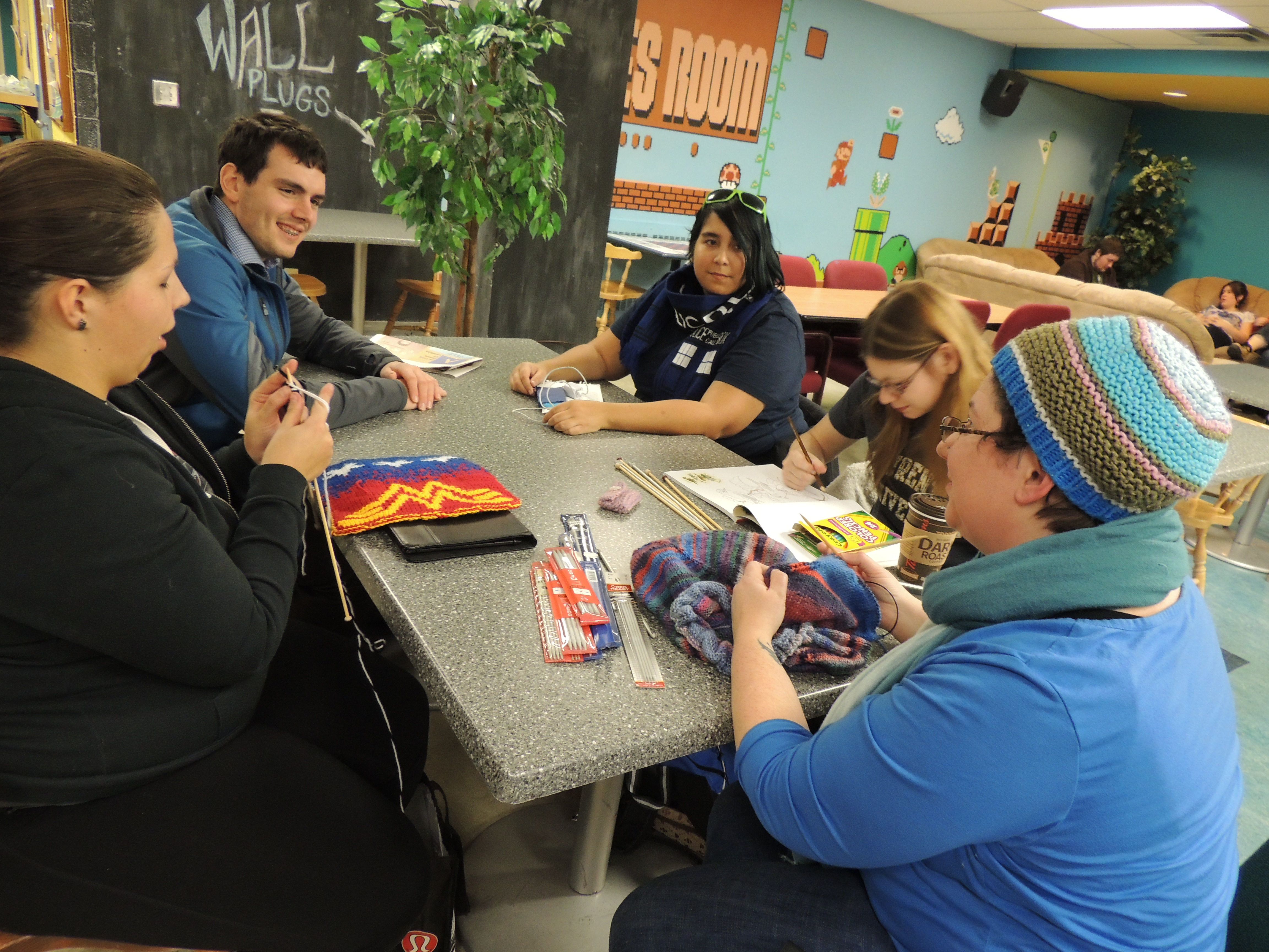 The Creativity Club meets in the Student Centre Games Room. Photo by Zara Golafshani.