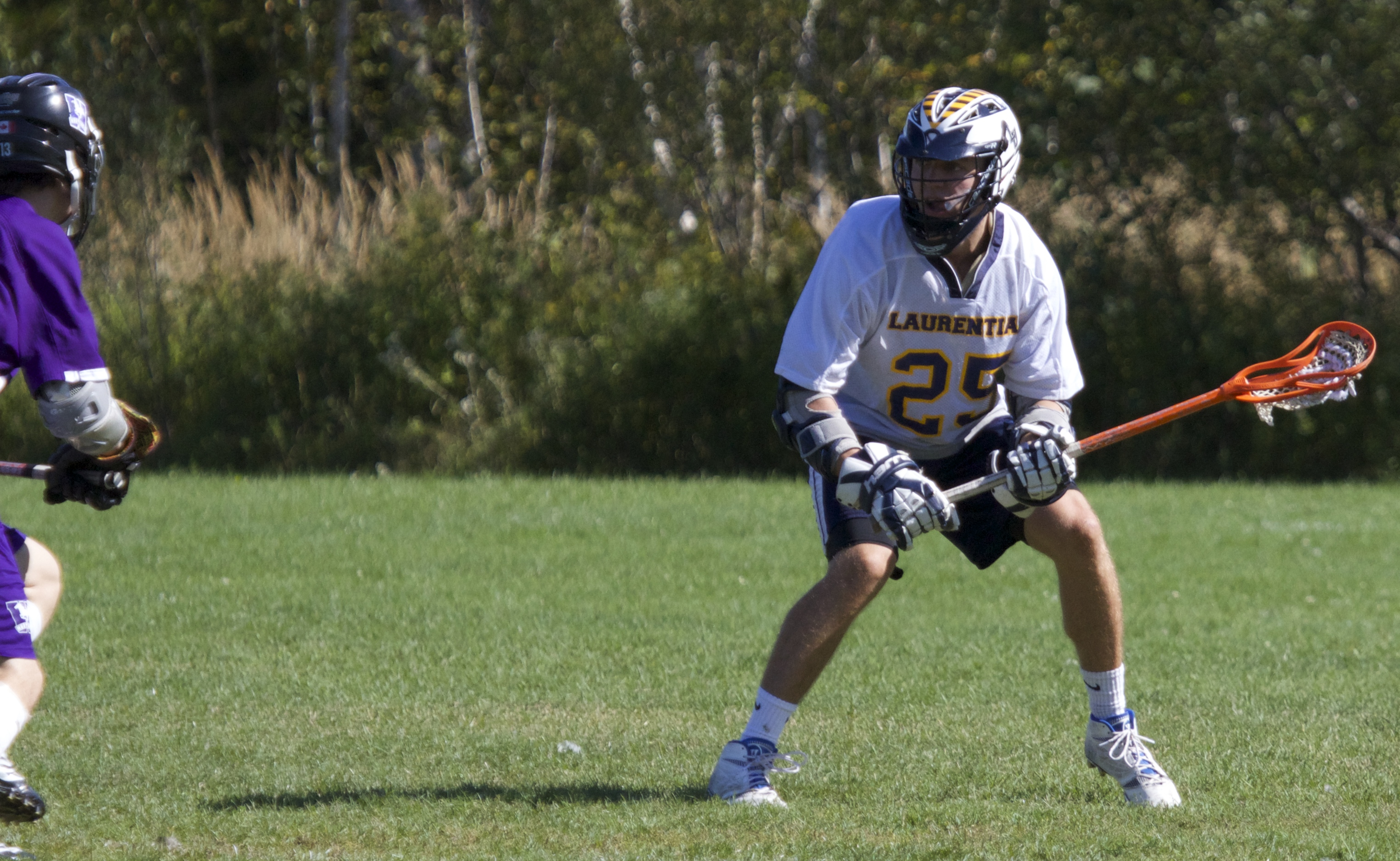 Laurentian's men's lacrosse team plays against Western Mustangs on Nov. 1. Photos by Gabriel Rodrigues