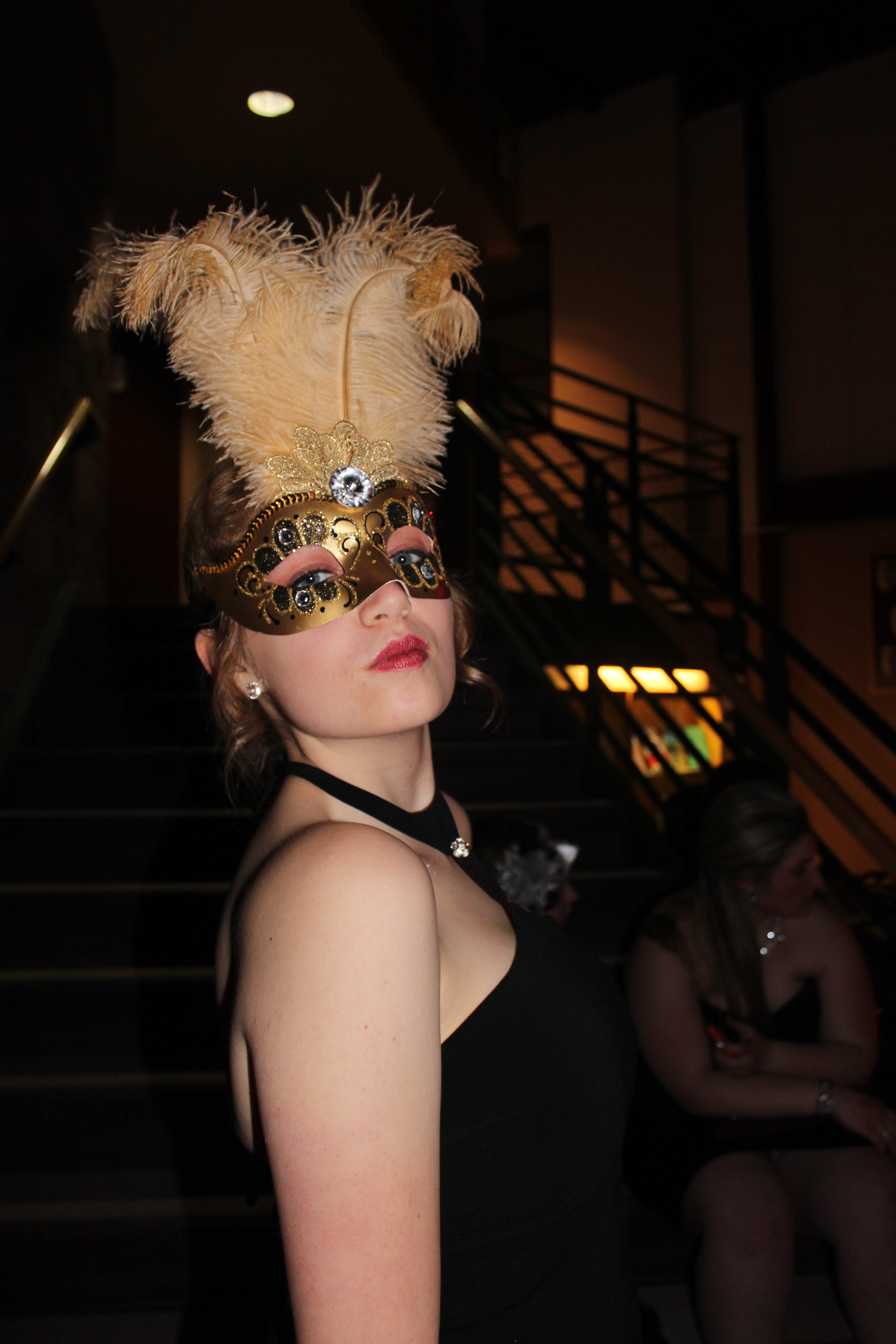 Students attend the 2014 Masquerade Ball. Photo by Zara Golafshani.