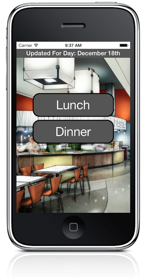 A screenshot of the LU Dining app. Photo supplied.
