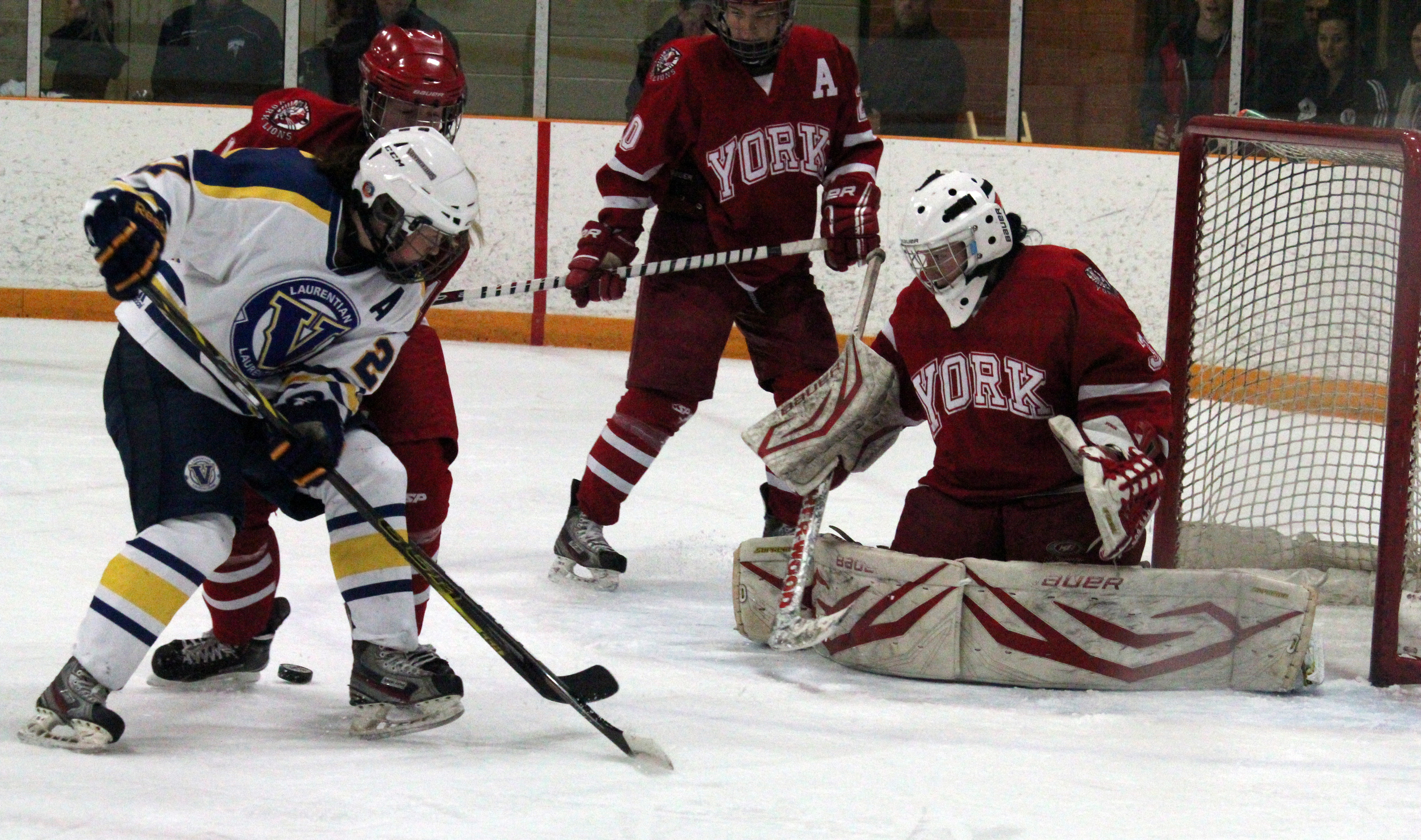 The Laurentian women's hockey team faces the York University Lions on Nov. 16. Photo by Gabriel Rodrigues