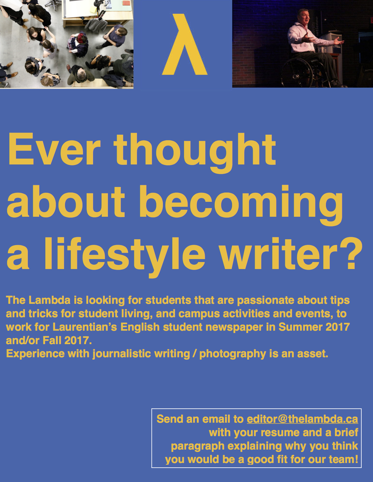 call-lifestyle-writer