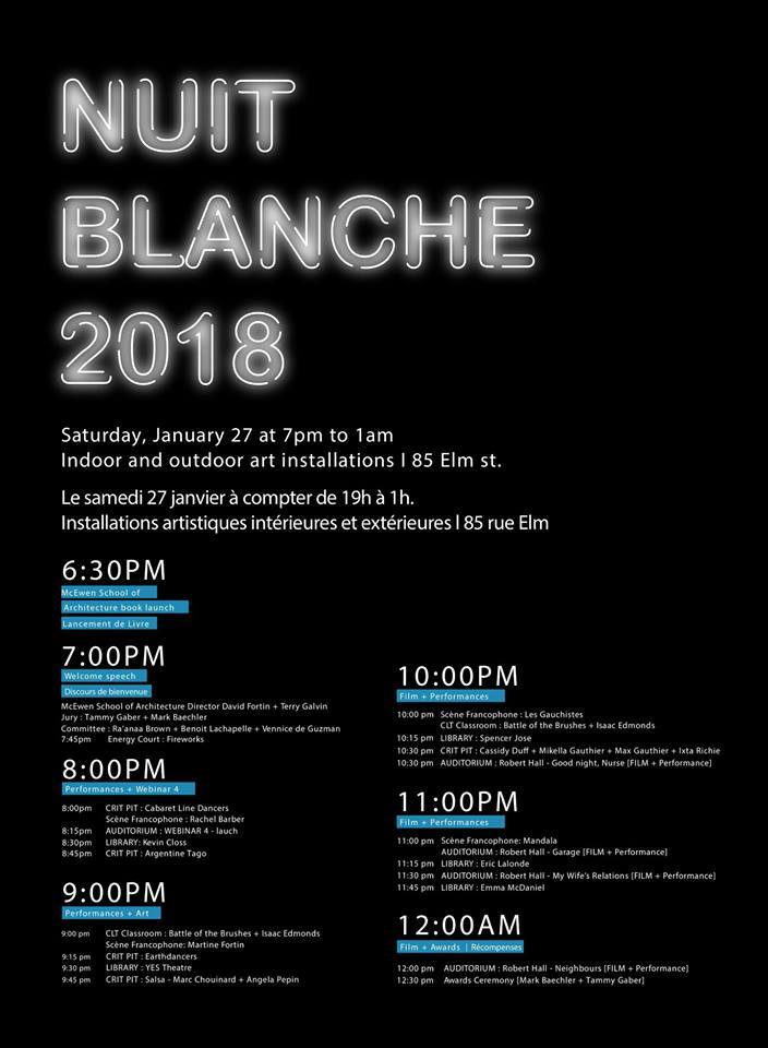 McEwen Nuit Blanche event poster